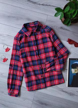 Рубашка / сорочка / в клітинку / в клетку / клетка / красная / тёплая / тепла