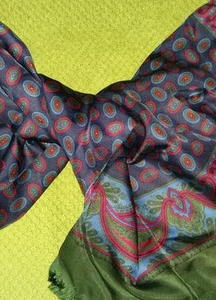 Эксклюзивный шелковый мужской шарф lanvin.оригинал