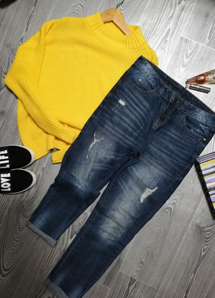 ☝️мегастильные джинсы бойфренды esmara
