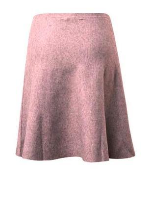 Универсальная бежевая юбка, принт:   меленький горошек