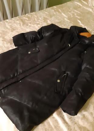 Куртка,-пальто черное
