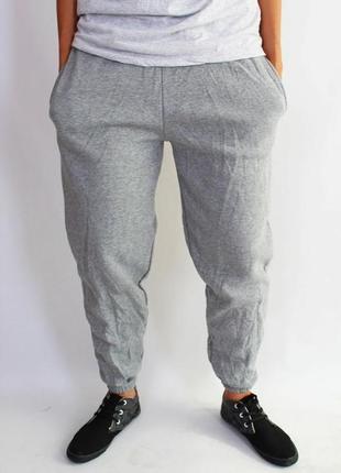 ⛔✅ классные трикотажные штаны унисекс на флисе