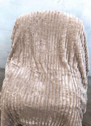 Шикарный плед-покрывало полоска, евро размер