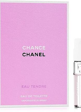 Chanel chance eau tendre edt, пробник 1,5 мл, оригинал.