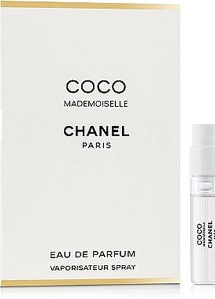 Chanel coco mademoiselle, edp, пробник, 1,5 мл, оригинал.