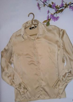 Шелковая рубашка от бренда jjв benson оригинал