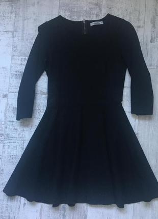 Платье с юбкой-полусолнце на молнии и рукав 3/4 бренд pull&bear