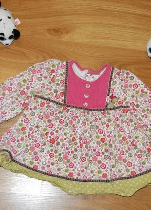 Брендовое вельветовое платье mamas & papas, 12-18 мес