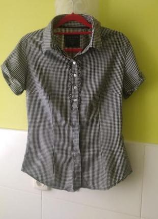 Рубашка в клетку с коротким рукавом от guess
