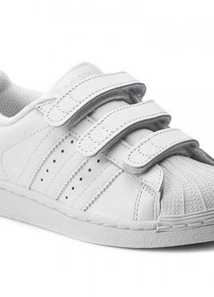 Кроссовки adidas superstar кожа, белые оригинал. размер 23,