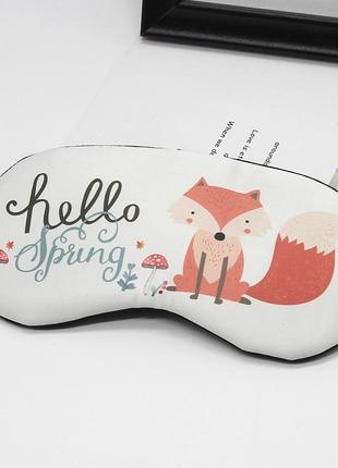 Уютная повязка маска на глаза для сна с лисичкой