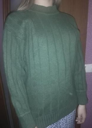 Свитер шерстяной теплый tom tailor