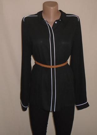 Шифоновая класическая рубашка/блуза/шифонова блузка/сорочка