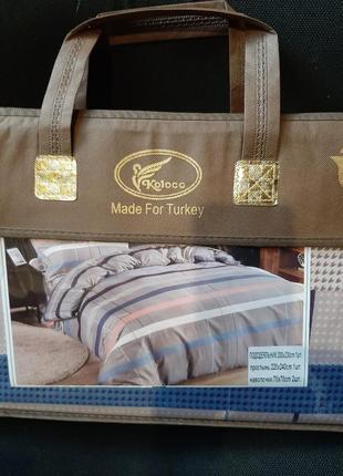 Новый постельный комплект ,пртурция,сатин,евро