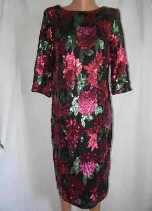 Шикарное платье в паетках m&co огромный выбор нарядных платьев