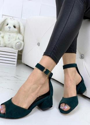 Шикарные замшевые босоножки, летние босоножки, туфли с открытым носком