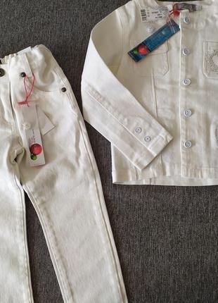 Жакет и джинсы boboli на девочку 4-5 лет