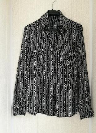 Шелковая рубашка блуза оригинальная расцветка public