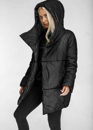 Куртка зимняя  с капюшоном удобная удлиненная эксклюзив marani