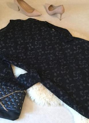 Изысканное и неповторимое нарядное гипюровое платье с блеском на р. 12/40-14/42...👠