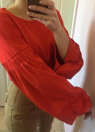 Кроп топ свитер, свитшот, укороченый, рукава буфы, большие рукава, zara knit2 фото