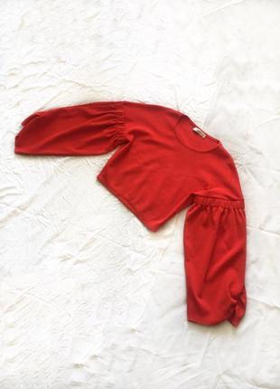 Кроп топ свитер, свитшот, укороченый, рукава буфы, большие рукава, zara knit3 фото