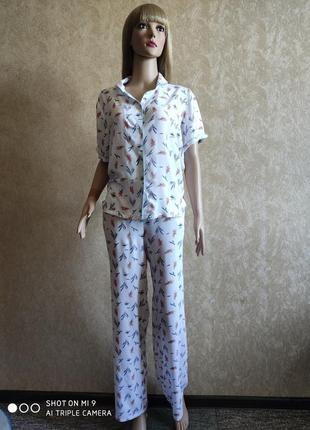 Пижама рубашка и штаны. женская пижама