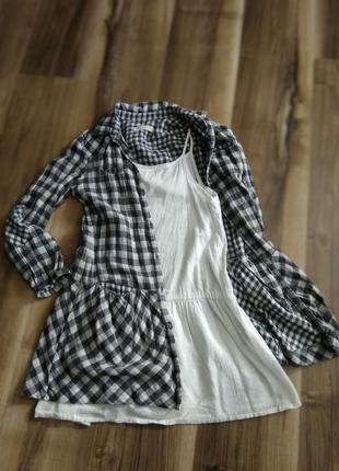 Невероятно очаровательное платье для модницы, платье - двойка, платье + сарафан