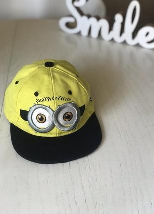 Детская кепка бейсболка миньон