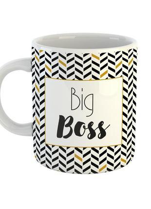 """Кружка с надписью """"big boss"""""""