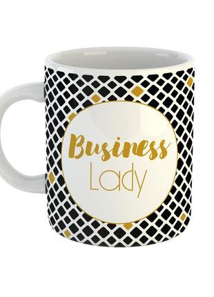 """Кружка с надписью """"business lady"""""""
