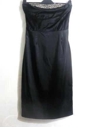 Платье kookai чёрное вечернее выпускное футляр с бисером