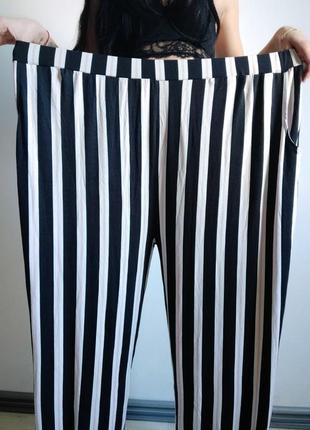 Вискоза очень крутые штаны брюки с карманами в полоску вертикальную