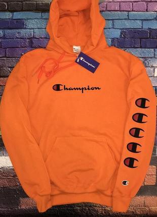 Кенгуру champion • оранжевая мужская худи • бирки ориг