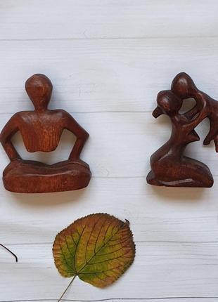 Пара семейных оберегов из дерева суар. тайланд.
