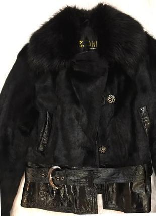 Короткая натуральная шубка- куртка, размер м-л+ подарок туфли