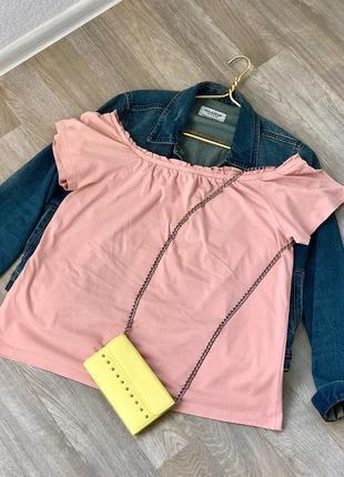 Ликвидация лета!🔥 🔥 футболка, топ соспущенными , оголенными плечами vero moda