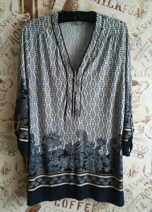 Интересна блуза canda 18р. вискоза!!!