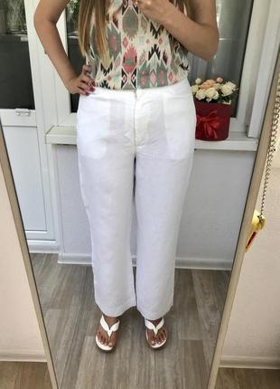 Ликвидация лета! белые брюки, штаны из льна, льняные свободные штаны rene hazan