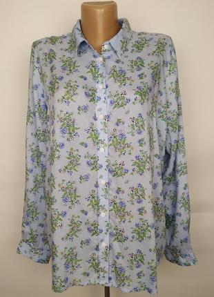 Блуза рубашка в классическом стиле легкая красивая marks&spencer uk 16/44/xl