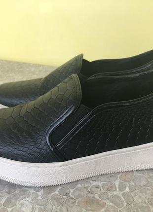 Кеды (слипоны) черные 41,5 размер