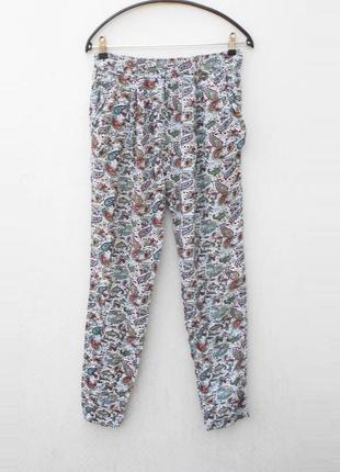 Летние свободные брюки из вискозы с орнаментом 🌿