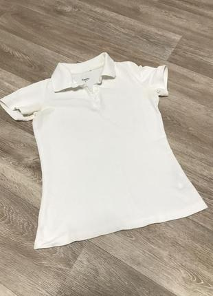 Белая спортивная футболка поло demix 42-44