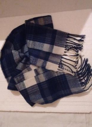 Классический шерстяной шарф2 фото