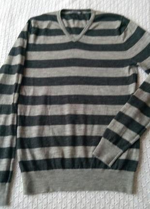 Шерсть мериноса пуловер джемпер шерстяной свитер кофта светер merino wool