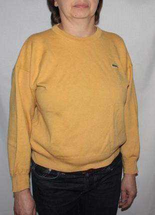 Кофта свитер lacoste желтая шерсть