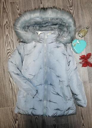 Куртка зимняя на девочку, очень теплая