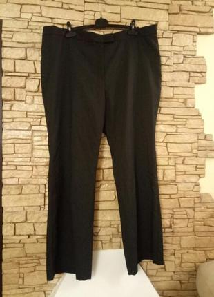 Скидка!базовые прямые черные женские  брюки/штани,большой размер