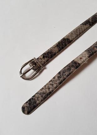 Шикарный тонки пояс в змеиный принт,трендовый женский  ремень,итальянский поясной ремень