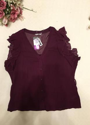 Блуза марсала 18-20